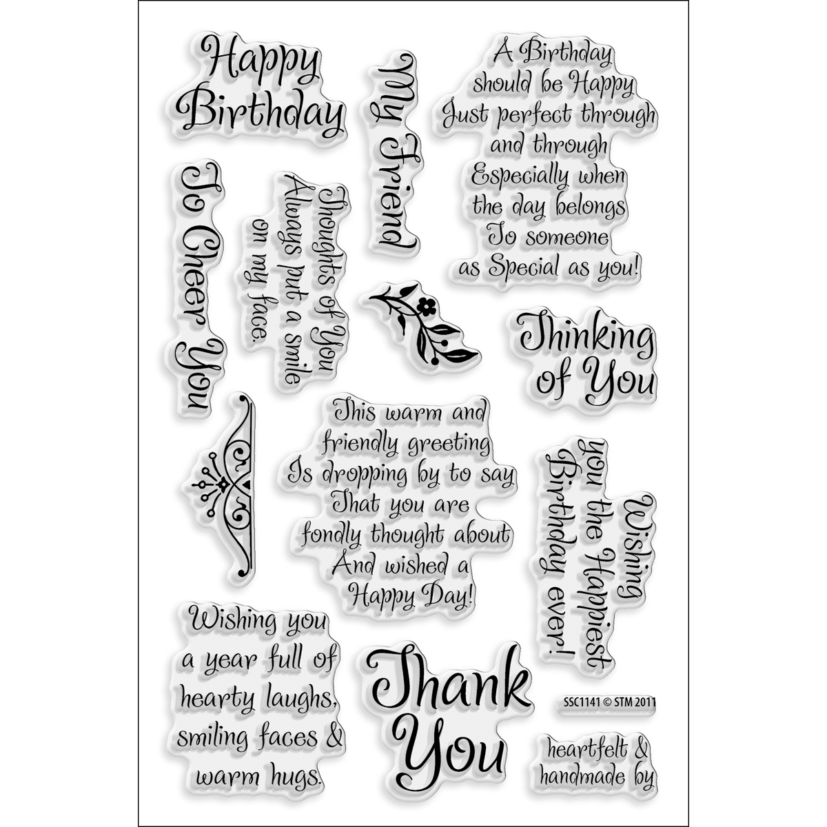 Stampendous Perfectly Clear Stamps Friendly Phrase