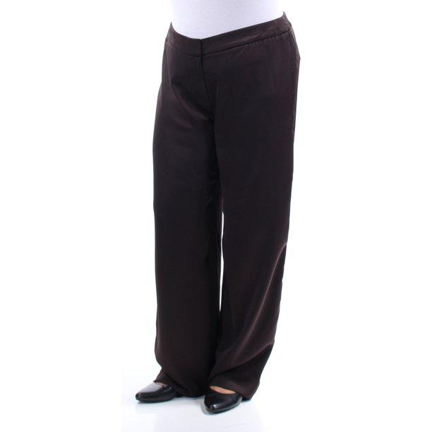 Ladies Brown Trousers : ALFANI Womens Brown Pants Size: 2