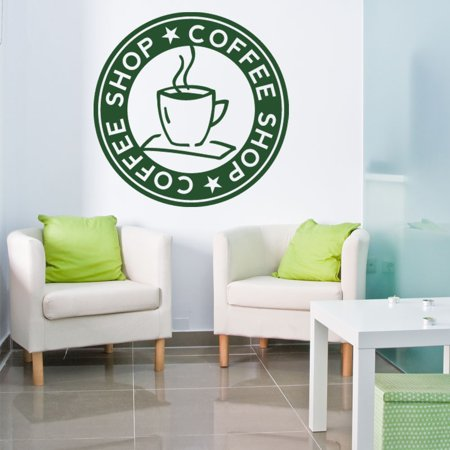 Style and Apply Coffee Shop Kitchen Vinyl Wall Art Small - Walmart.com