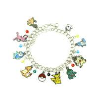 Pokemon Novelty Charm Bracelet Anime Manga Series with Gift Box