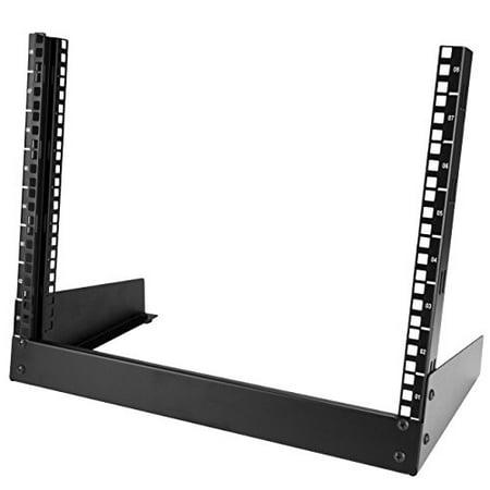 StarTech.com 12U Adjustable Depth Open Frame 4 Post Server Rack with Casters/Levelers and Cable Management Hooks 4POSTRACK12U