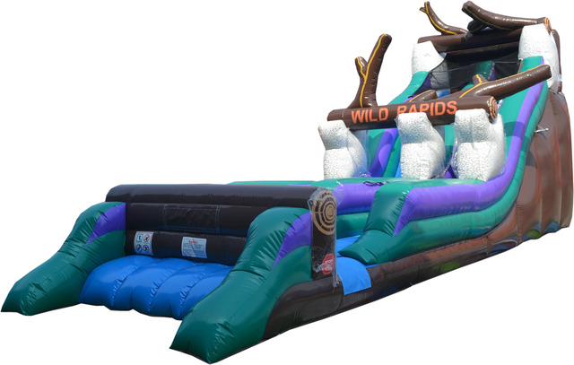 Pogo 21' Wild Rapids Commercial Kids Jumper Inflatable Waterslide with Blower by Pogo Bounce House