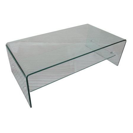 Peoria Glass Coffee Table with Shelf