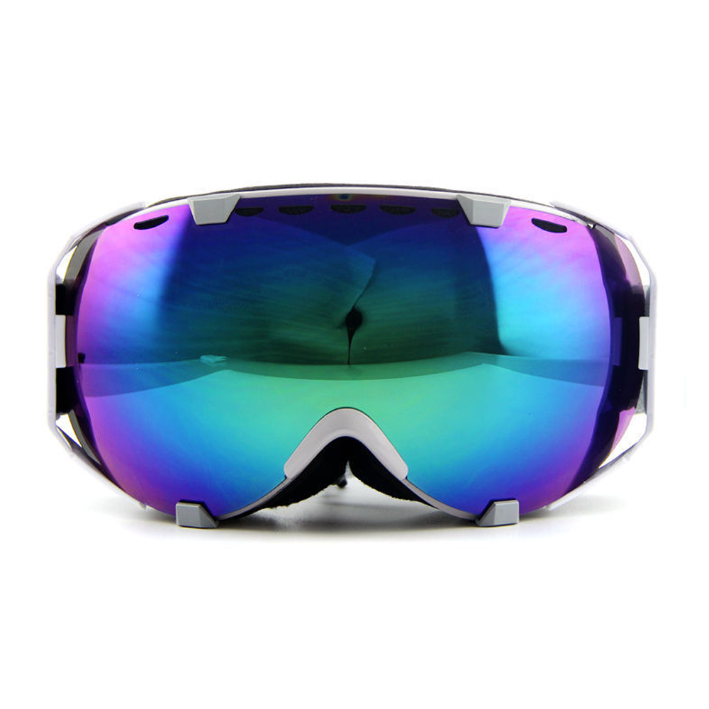 Ediors Windproof Snowmobile Ski Snow Goggles Eyewear Anti Fog Double Lens All Mountain   UV Protection (105-9, Revo... by Ediors