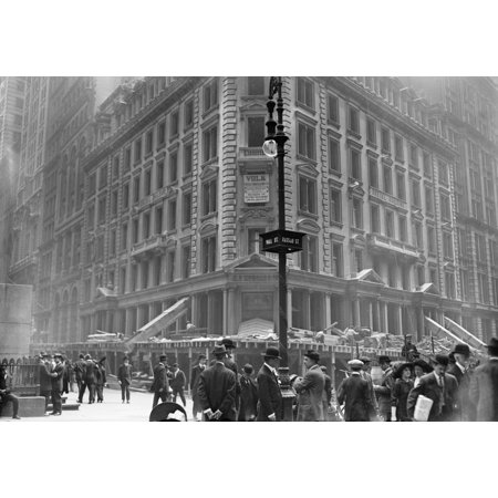 Nyc Wall Street 1913 Ndemolition Of The Jp Morgan Bank At 23 Wall Street In New York City Photograph May 1913 Poster Print By Granger Collection