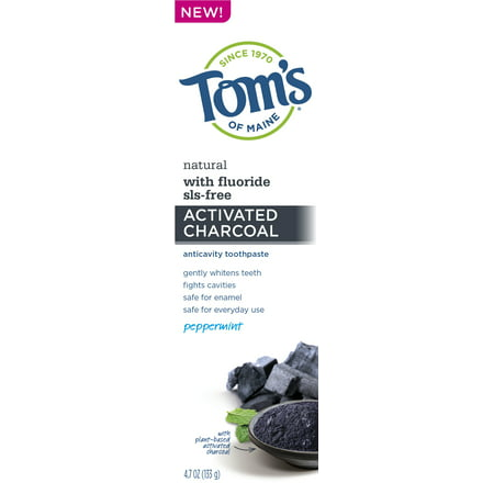 Tom's of Maine Charcoal Anticavity Toothpaste, 4.7oz