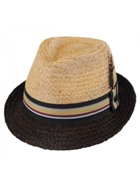 3d8847be Product Image Trinidad Raffia Straw Trilby Fedora Hat - XXL -  Natural/Putty. Jaxon Hats