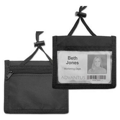 Advantus ID Badge Holder w/Convention Pouch, 4w x 2 1/4h, 12 per Box