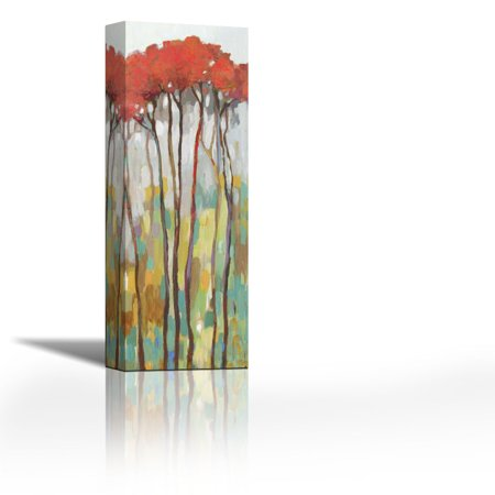 Standing Tall I Contemporary Fine Art Giclee On Canvas Gallery Wrap Wall Decor Art Painting 9 X 27 Inch Ready To Hang