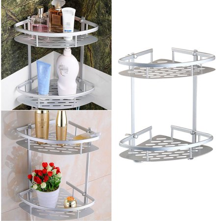 Bathroom Corner Shelf,2 Tier Shower Caddy Shelf Storage Rack ...
