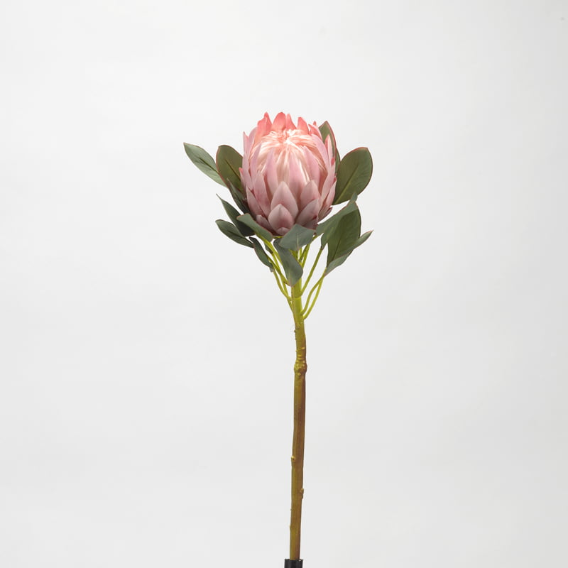 D W Silks Pink Protea Flower Stem Set Of 3 Walmart Com Walmart Com