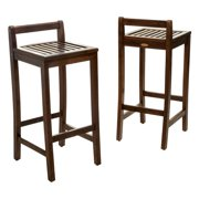 Wooden Bar Stool Set of 2 by Wooden Bar Stools
