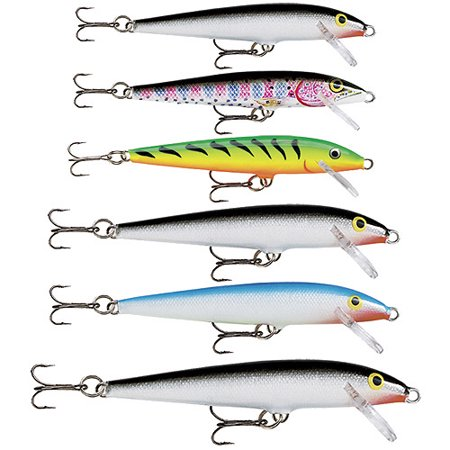 Rapala rapala floating 6 pk value pk for Fishing lures at walmart
