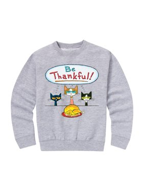 Pete The Cat Be Thankful! - Toddler Crew Fleece