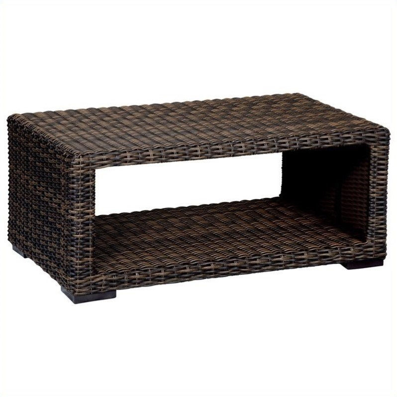 Sunset West Montecito Coffee Table in Cognac