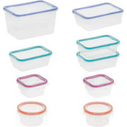 Snapware Total Solution 18-Piece Plastic Container Set, Clear