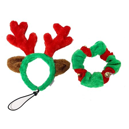 Midlee Santa Hat Headband with Red/White Bell Collar for Large Dogs (Large Santas For Sale)