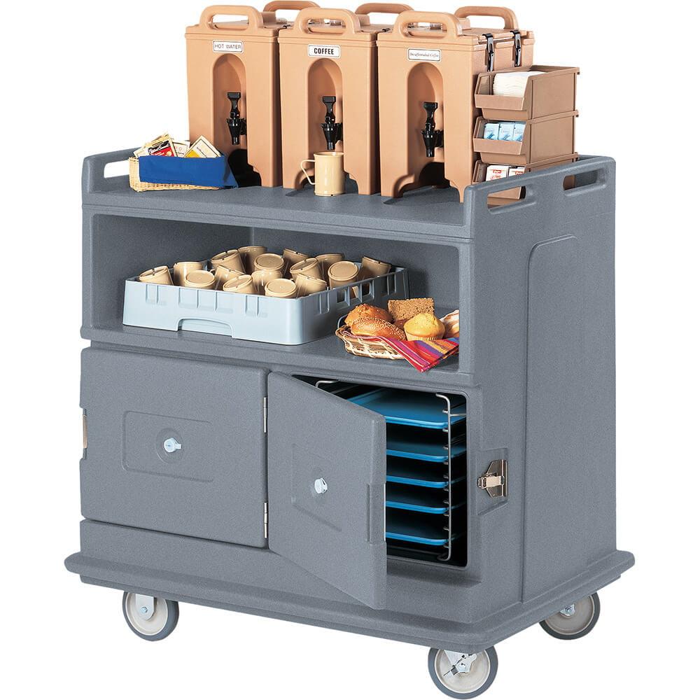 Cambro Beverage Cart, Recessed Top, Granite Gray, MDC24-191 by Cambro