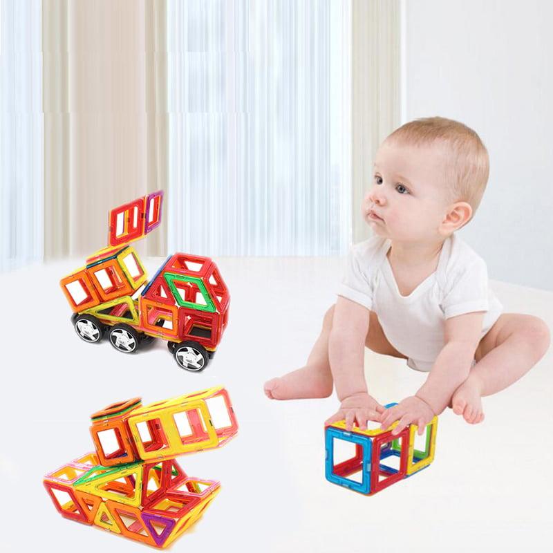 58PCS Magnetic Car Construction Building Toys Children Educational Blocks Multicolor by YKS