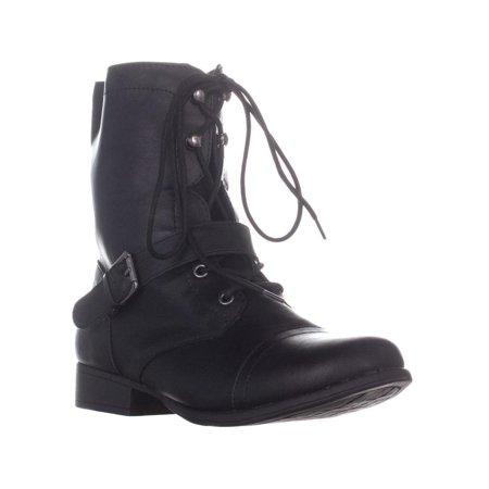 Womens AR35 Farrahh Combat Boots, Black](Clearance Combat Boots)