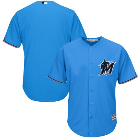 Miami Marlins Majestic Alternate 2019 Official Cool Base Team Jersey - Blue - Raiders Official Team Jersey