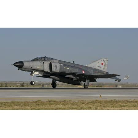 (A McDonnell Douglas F-4 Phantom of the Turkish Air Force landing at Konya Air Base Turkey Poster Print)