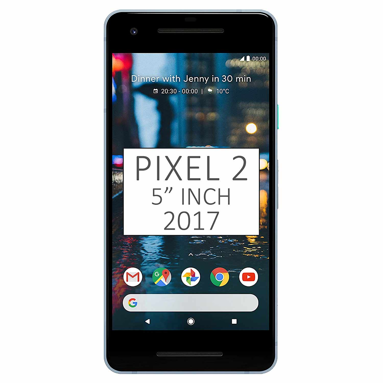 "New Google Pixel 2 64GB GSM + CDMA Factory Unlocked 5"" AMOLED Display 4GB RAM 12.2MP Smartphone - Kinda Blue"