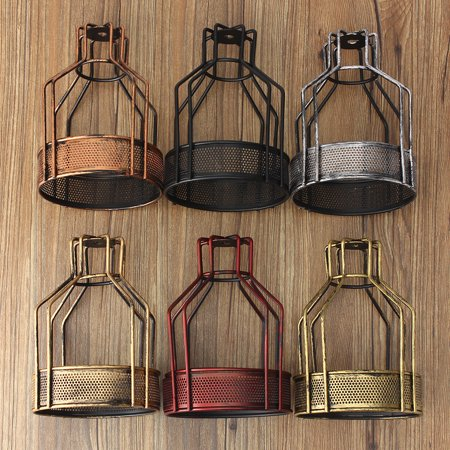 140*200mm Iron Vintage Industrial Ceiling Light Fitting Pendant Lamp Bulb Fixture Cage Guard Bar Cafe Lampshade Cage ()