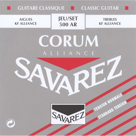 Strings 500AR Nylon Classical Guitar Strings, Medium, Normal tension, Red By Savarez from USA