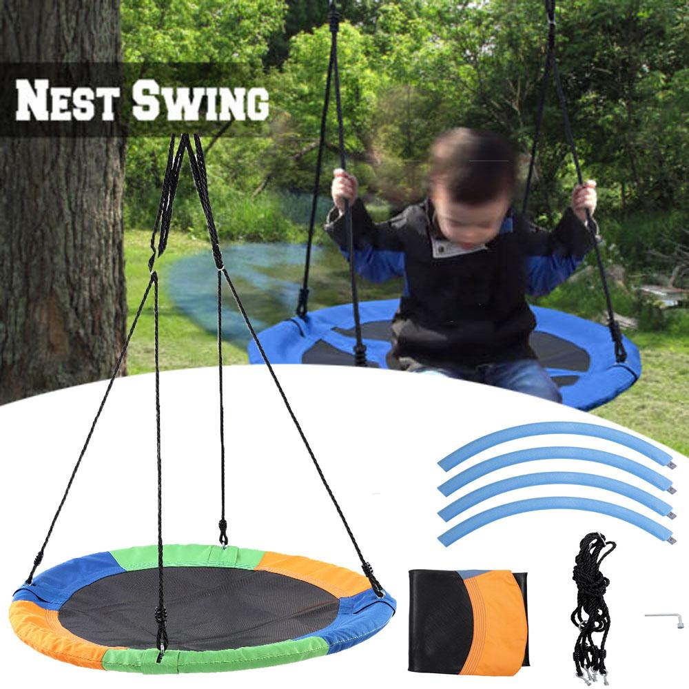 Anauto Multicolor Round Outdoor Toys Kids Children Tree Hanging