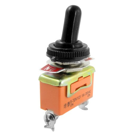 AC 250V 15A ON/ON 2 Position SPDT 2 Terminals Toggle Switch + Waterproof Boot - image 1 of 1