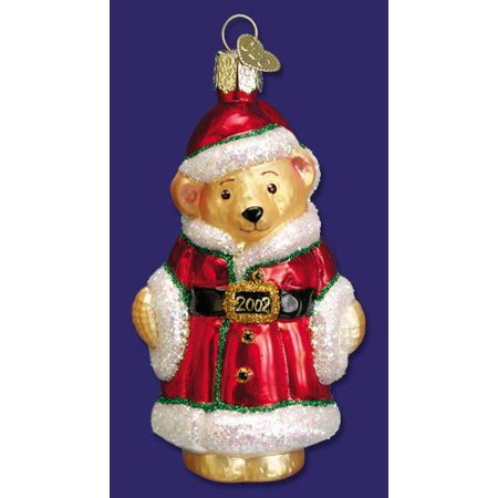 Old World Christmas 12062 Father Christmas Teddy 2002 Dated Ornament