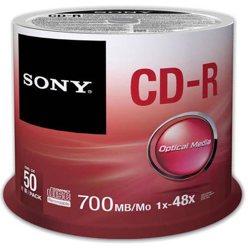 Sony CD-R Data Spindle, 50pk