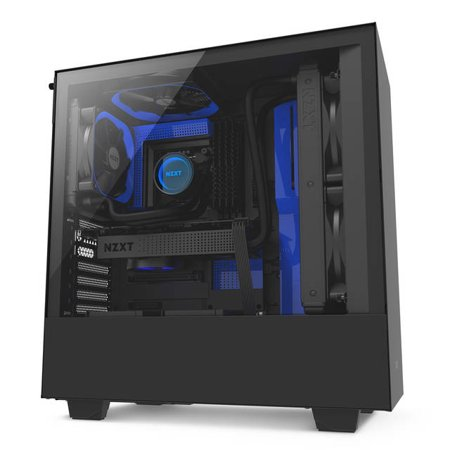 NZXT Case H500 Mid-Tower BK/Blue