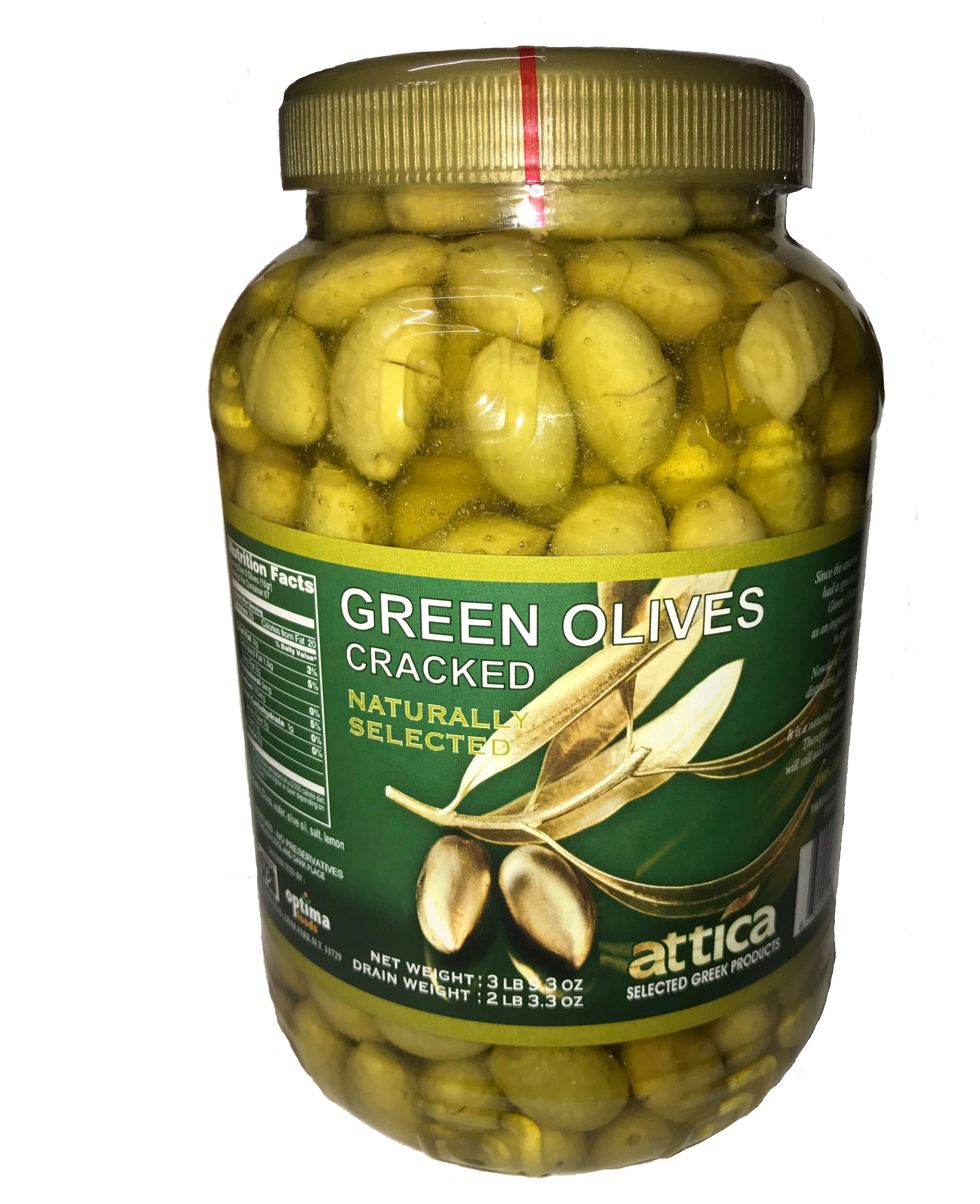 ATTICA Green Olives Cracked 3,58 Lbs by ATTICA