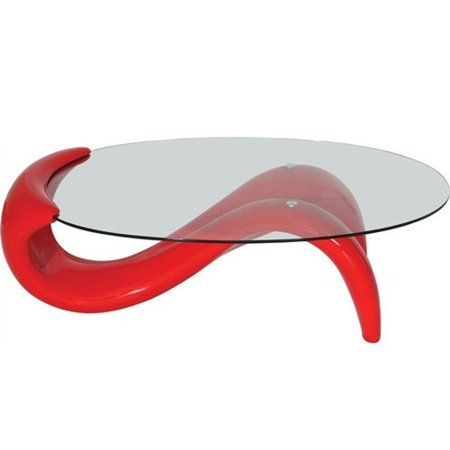 Modern Style Red Mermaid Coffee Table