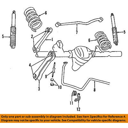 Miraculous Jeep Chrysler Oem 93 98 Grand Cherokee Rear Suspension Track Bar Wiring Digital Resources Ntnesshebarightsorg