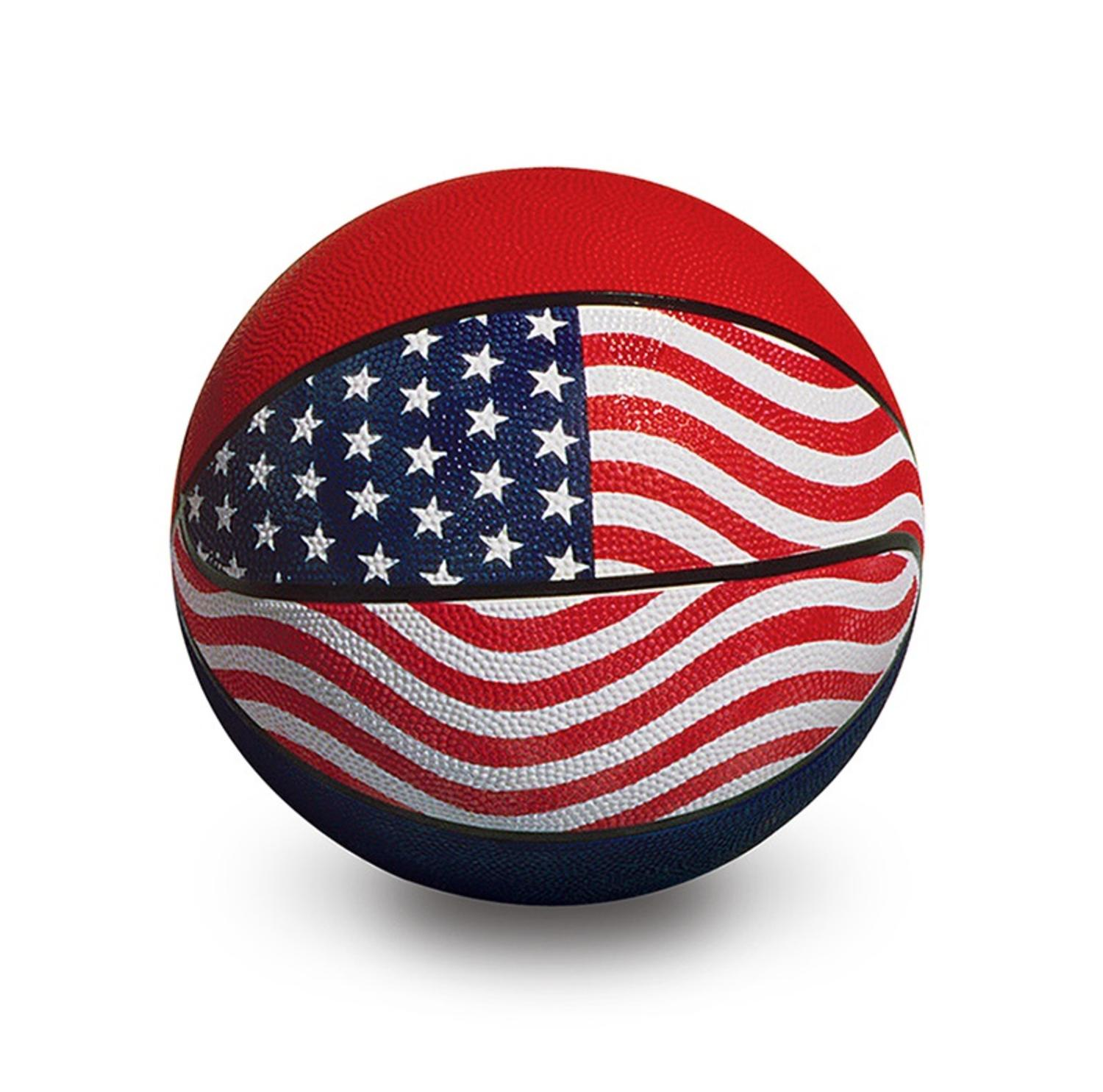 "9"" Red, White and Blue Sport Ball Official USA/WBA Competition Basketball Swimming Pool Accessory"