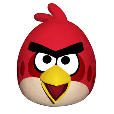 Paper Magic Angry Birds Red Bird Costume Latex Mask Adult](Latex Bird Mask)