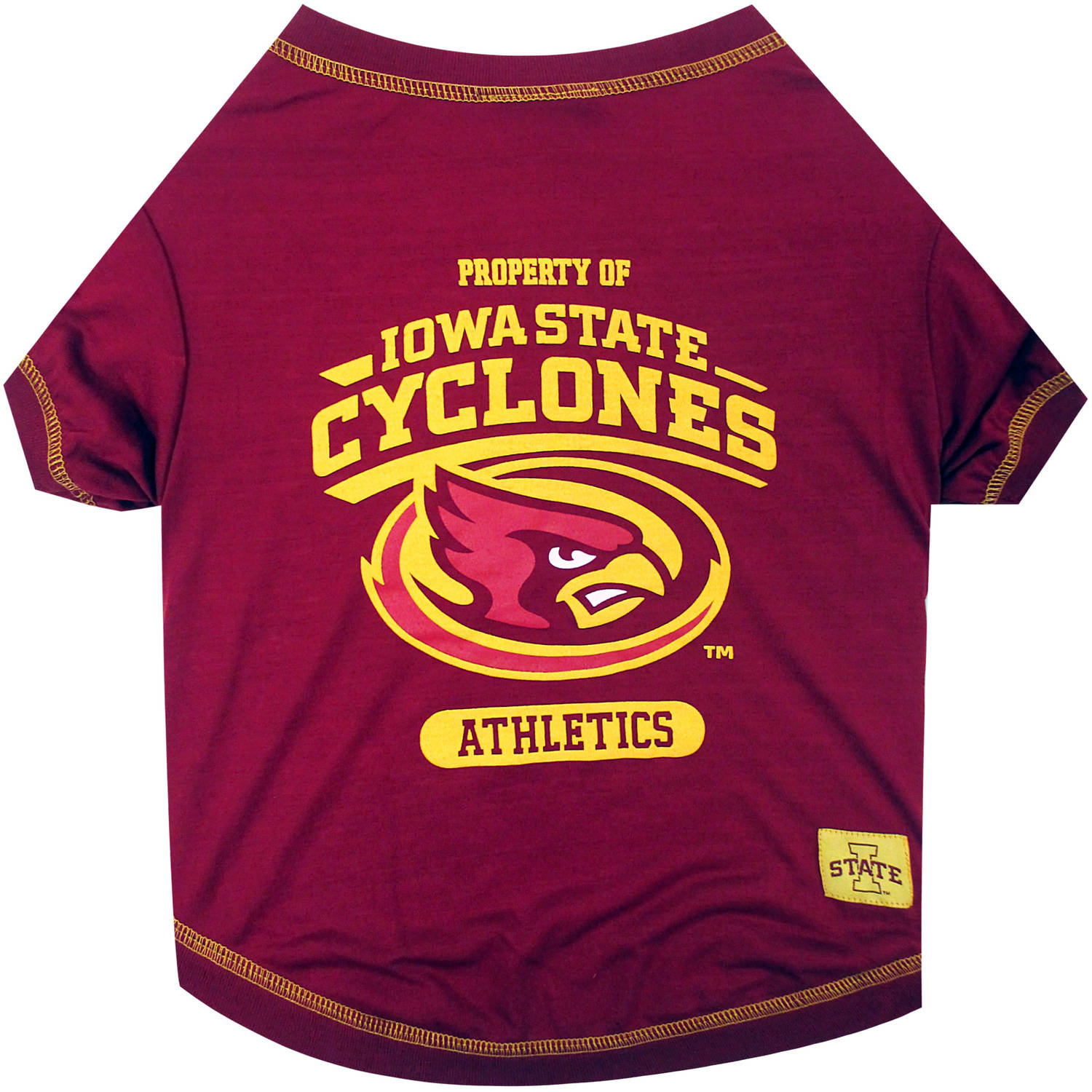 Pets First Collegiate Iowa State Cyclones Pet T-shirt, Assorted Sizes