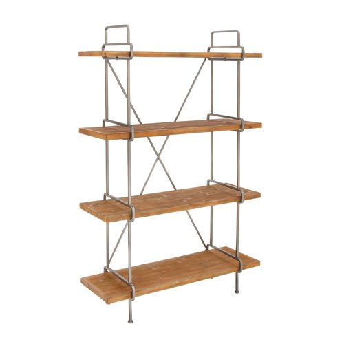 Cole & Grey Wood and Metal 4 Tier 67'' Etagere Bookcase by GwG Outlet