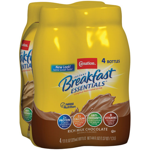 Carnation Instant Breakfast Rich Milk Chocolate Essentials, 4pk