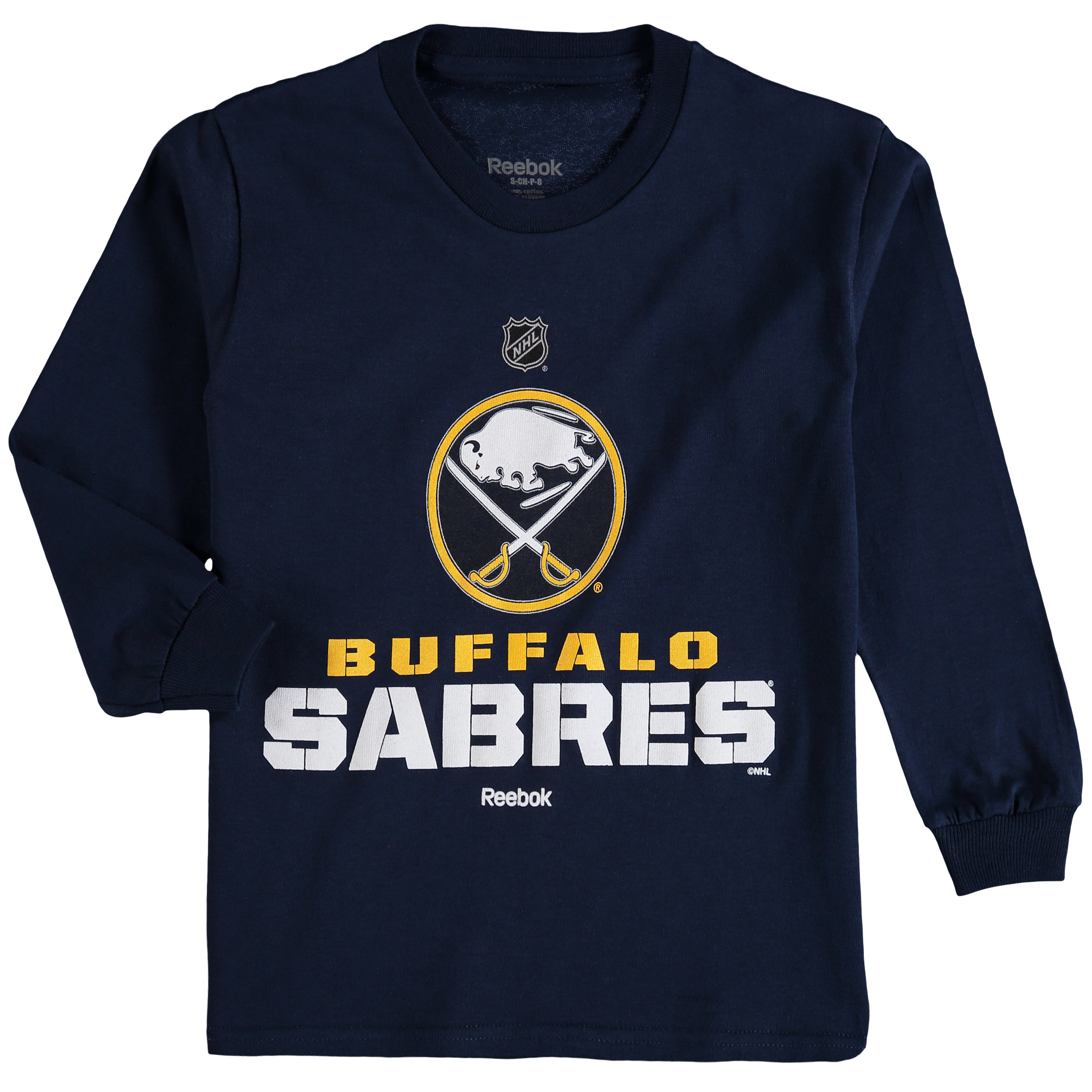 Buffalo Sabres Reebok Youth Clean Cut Long Sleeve T-Shirt - Navy