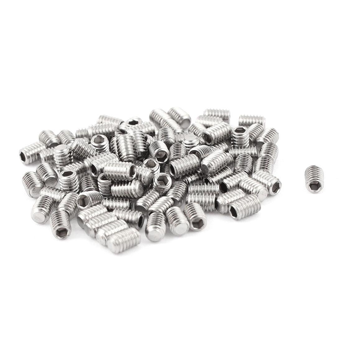 4mm x 6mm Stainless Steel Hexagon Socket Head Set Cup Point Grub Screws 100pcs