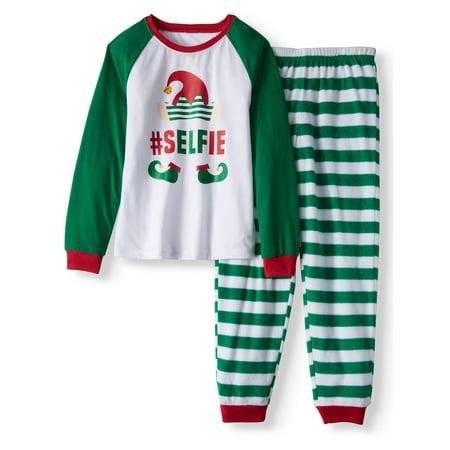 Holiday Elf Selfie Pajamas, 2-Piece Set (Little Girls and Big Girls)