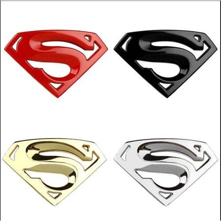 Superman 3D Chrome Metal Auto Car Motorcycle Logo Sticker Badge Emblem Tail Decals