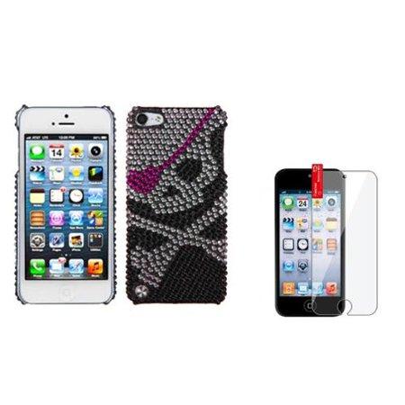 Insten Skull Diamond Case Bling Diamante Hard For Apple iPod Touch 6th 6G 6 5th 5G 5+Screen Guard ()