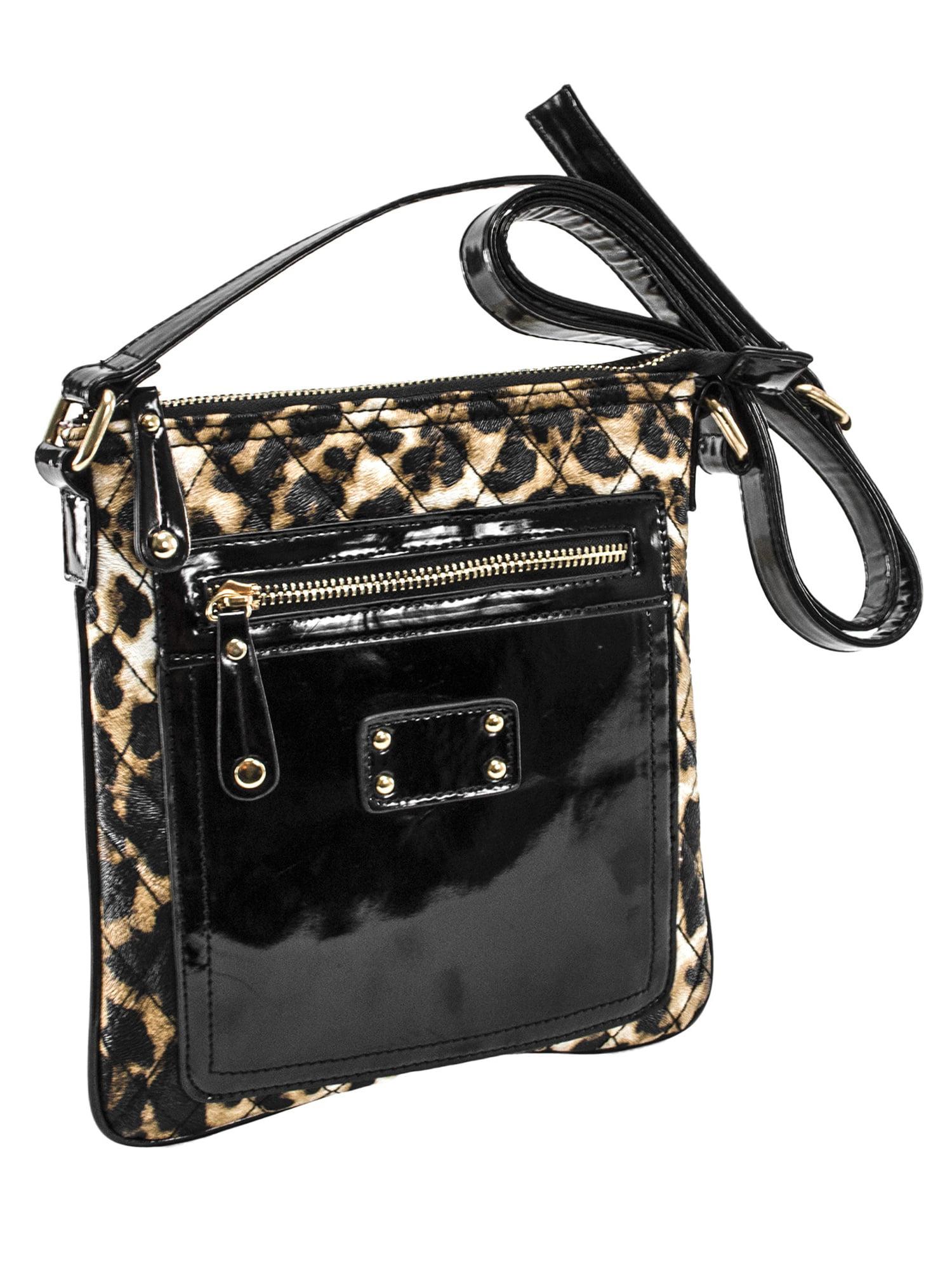 New Quilted Faux Leather Metallic Lion Decoration Ladies Shoulder Bag