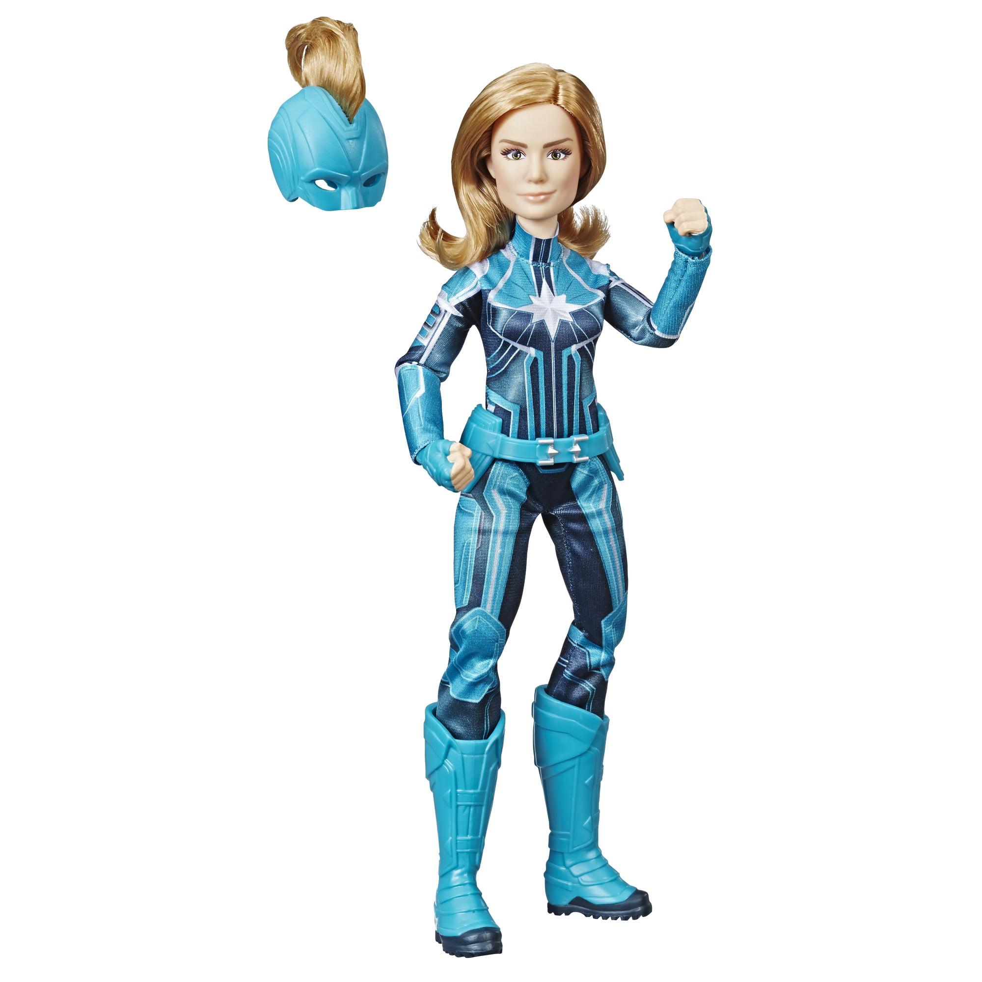 Marvel Captain Marvel Starforce Super Hero Doll with Helmet Accessory