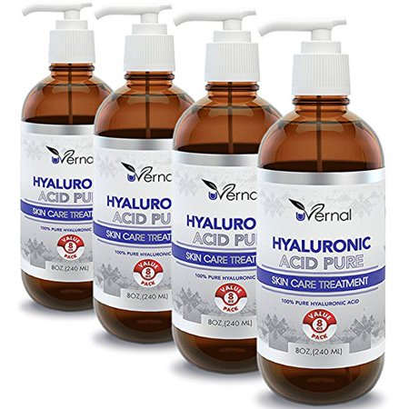 4 Pack Hyaluronic Acid for Skin - 100% Pure Medical Quality Clinical Strength Formula - Anti aging formula (8 (Quality Skin)